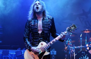 Judas Priest performs at the Tsongas Arena in Lowell, MA on November 20, 2011