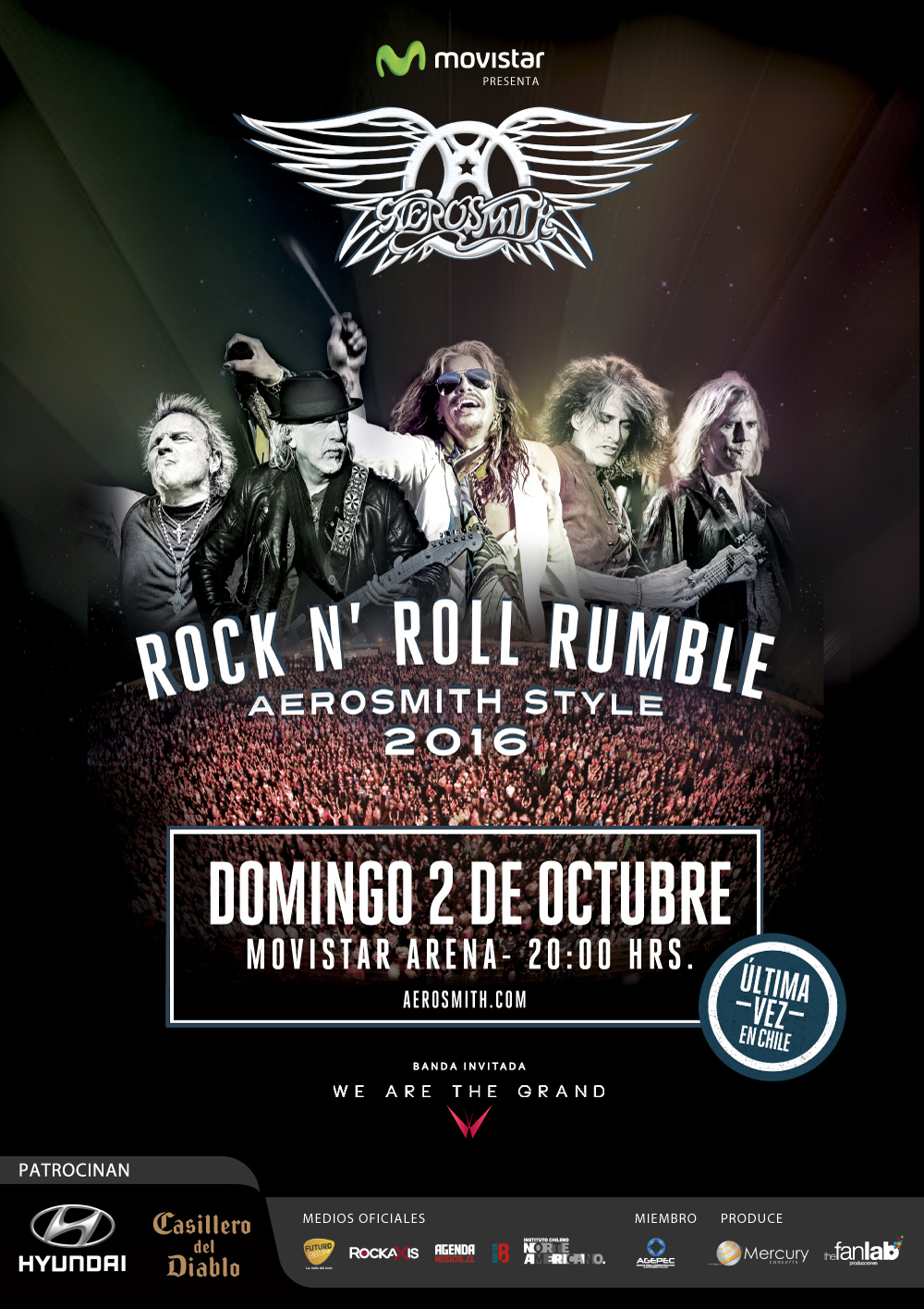 Por ultima vez en Chile se presenta Aerosmith