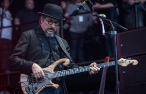 Les Claypool and his band Primus perform at the SweetWater 420 Fest in downtown Atlanta, Ga., on Saturday, April 18, 2015. April showers left the festival grounds ankle-deep in mud, but the event drew more than 20,000 people on Saturday. (AP Photo/ Ron Harris)